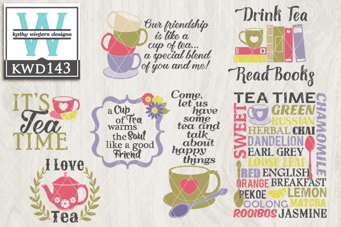 Tea Cutting File KWD143 example image 1