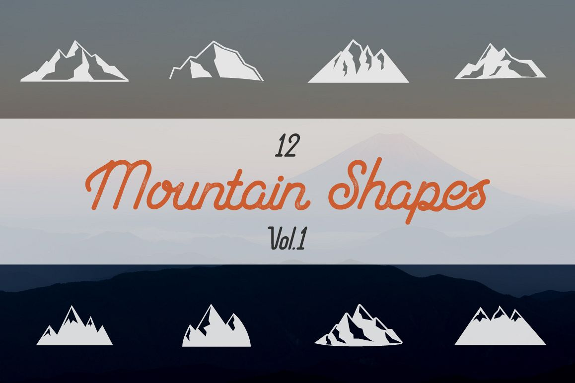 Mountain Shapes Collection. Vol.1 example image 1