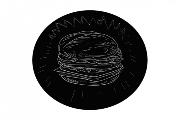 Cheeseburger Drawing example image 1