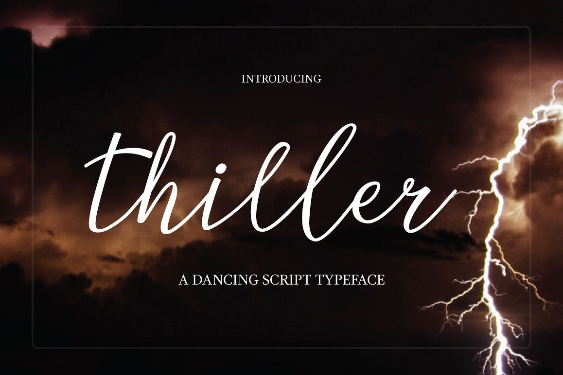 Thiller Typeface example image 1