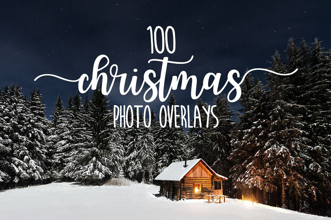 100 Christmas photo overlays example image 1