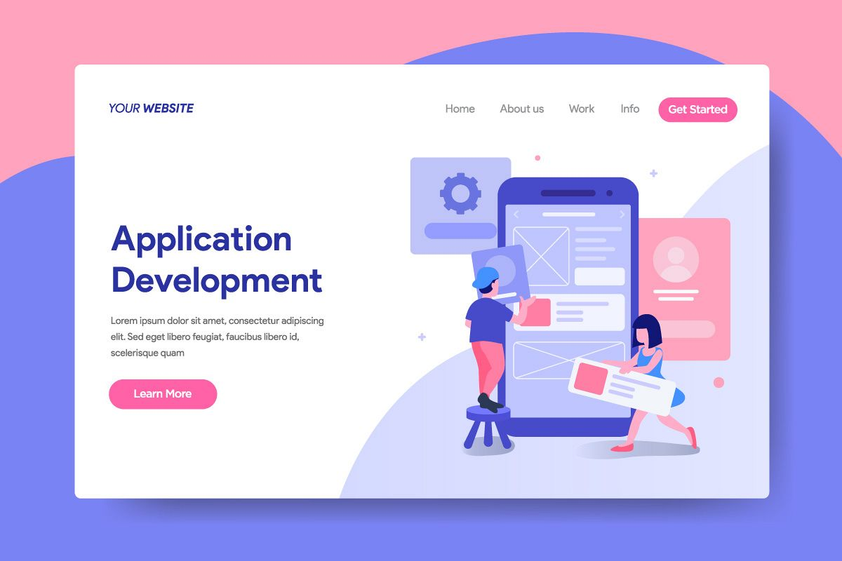Landing page template of Application Development services example image 1