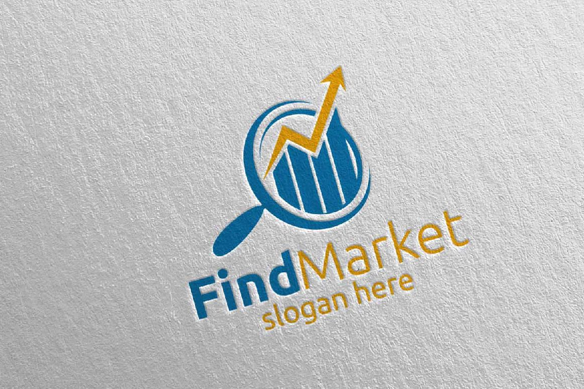 Find Marketing Financial Advisor Logo Design Template 14 example image 1