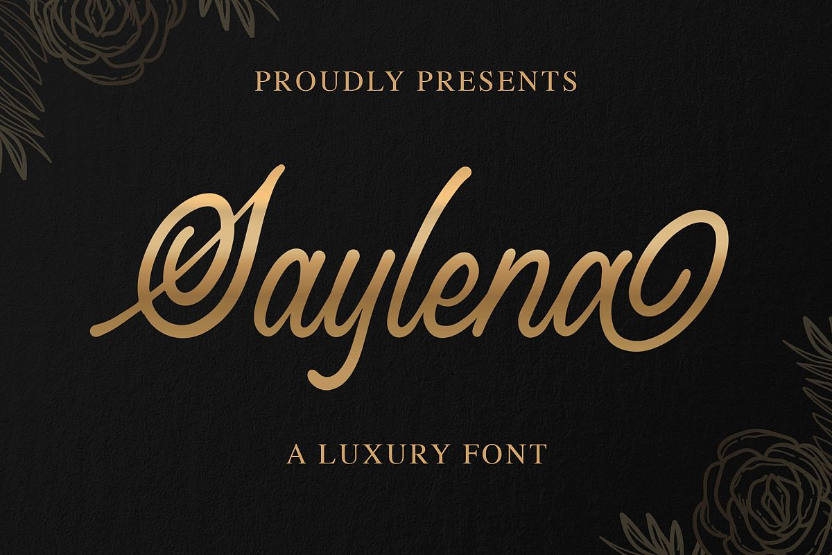 Saylena - Luxury Script Font example image 1