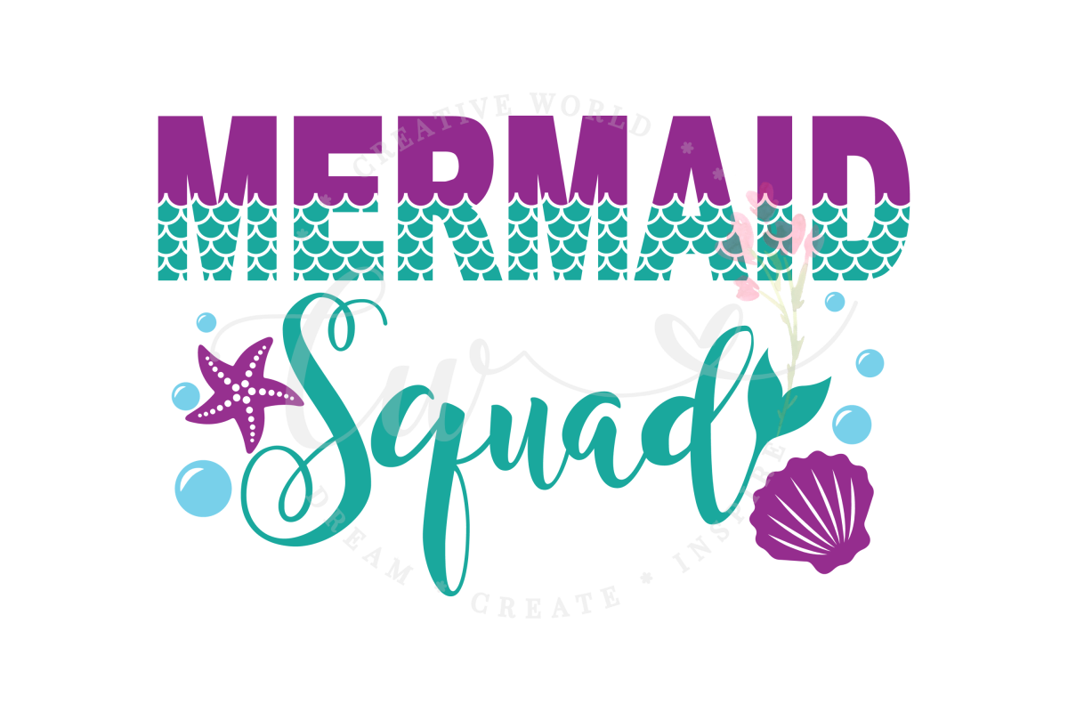 Mermaid Squad SVG | Mermaid Squad |Mermaid Birthday Girl svg example image 1