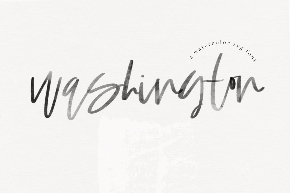 Washington - A Handwritten SVG Script Font example image 1