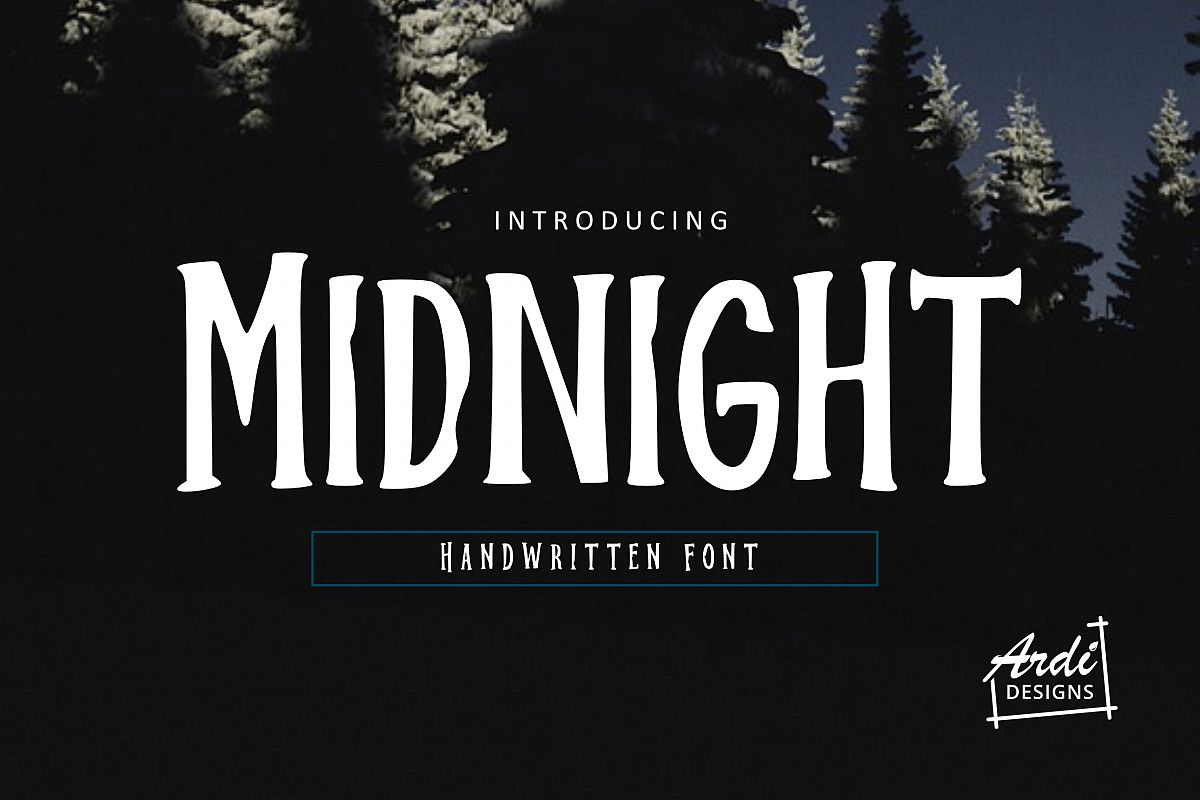 Midnight Font example image 1