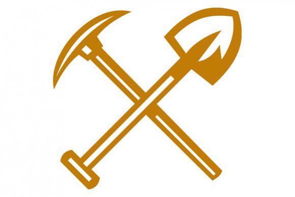 Pick Axe Shovel Crossed Retro example image 1