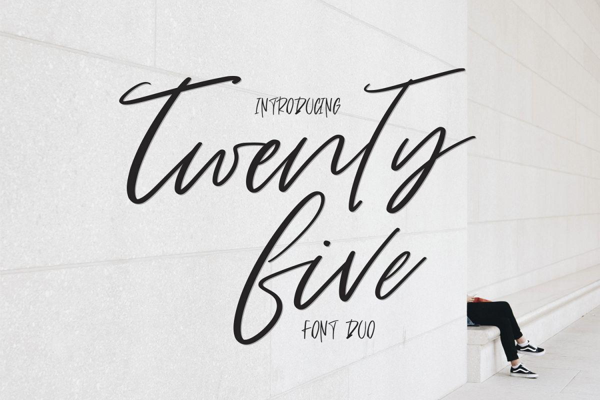 Twenty Five. Font Duo example image 1