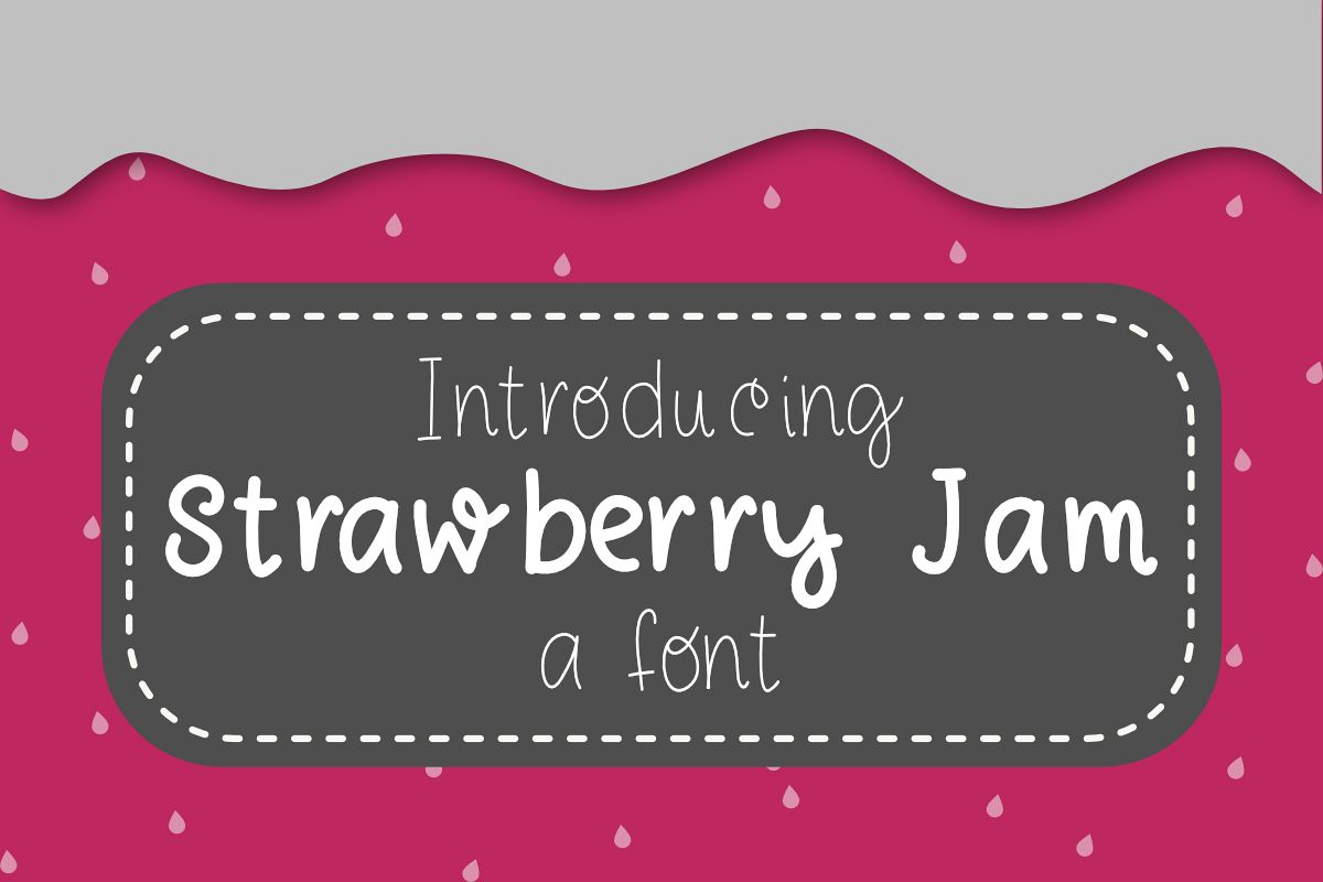 Strawberry Jam Font example image 1