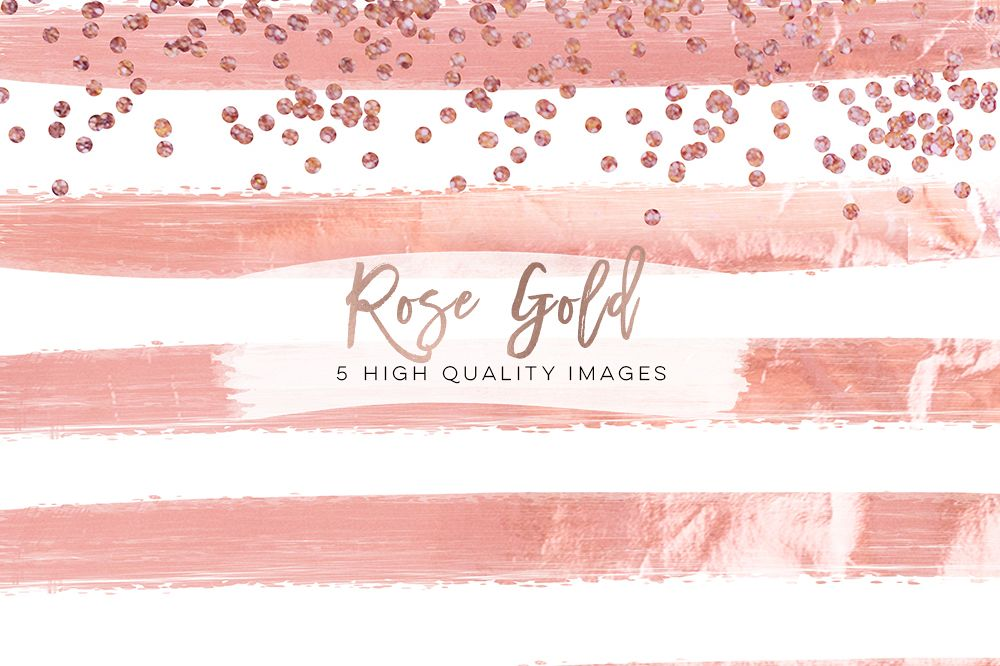 rose gold foil scrapbooking, Confetti Digital Paper, Rose Gold Glam Digital Paper, rose gold glitter foil Metallic texture, planner stickers example image 1
