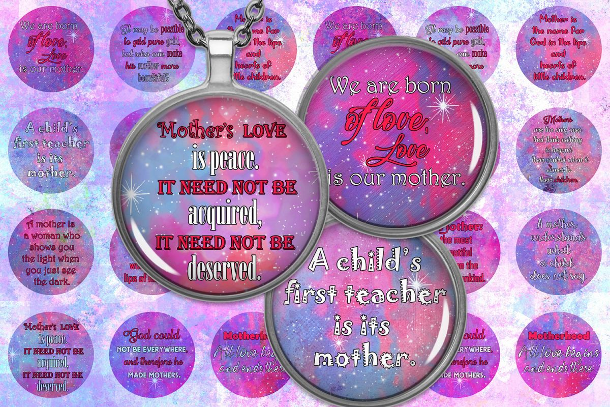 Mother Day Quotes,Quotes Digital Collage Sheet,Mom Quotes example image 1
