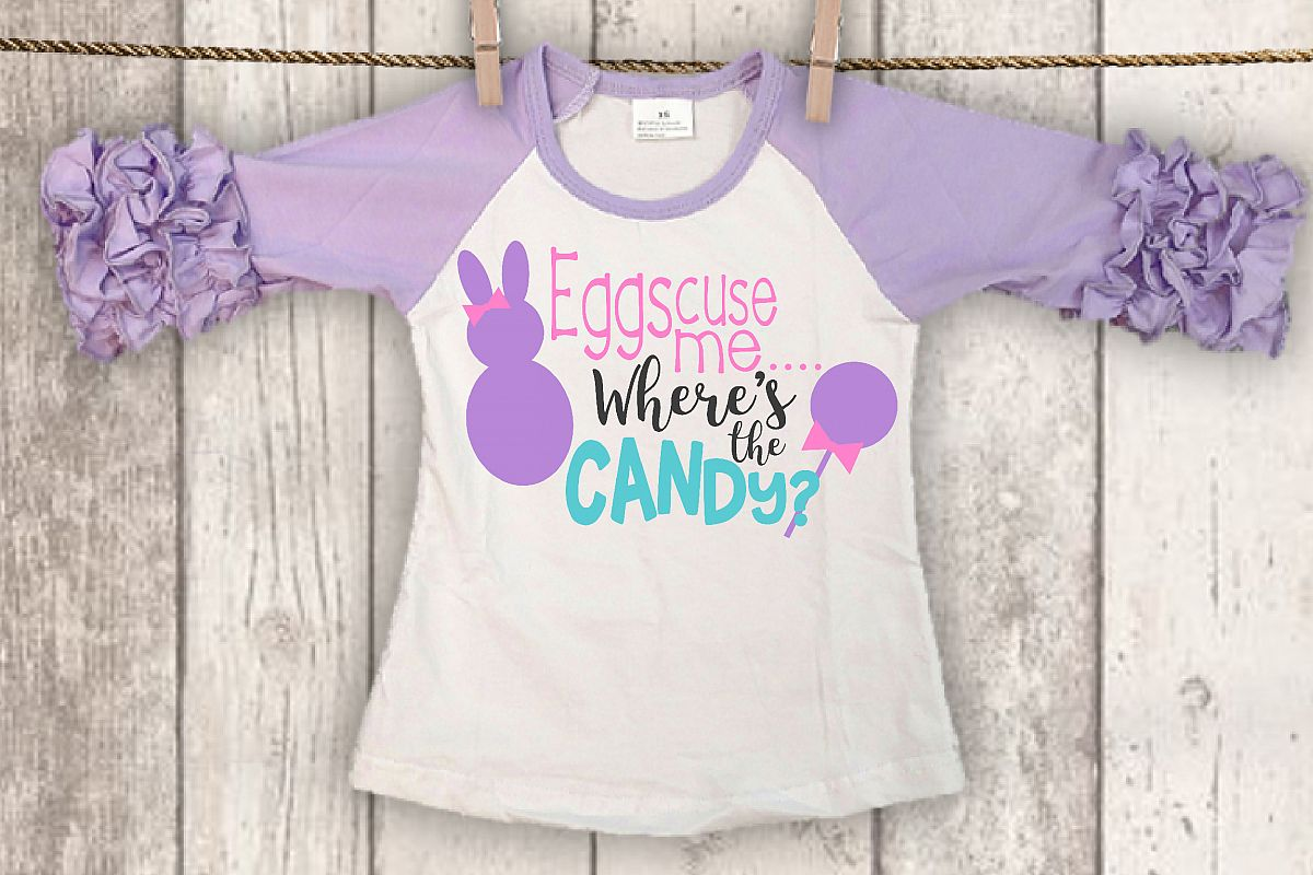 Easter svg, Easter shirt, Girl, Easter bunny, SVG, DXF, PNG example image 1
