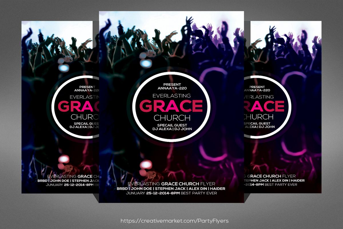Grace Of God Church Flyer example image 1