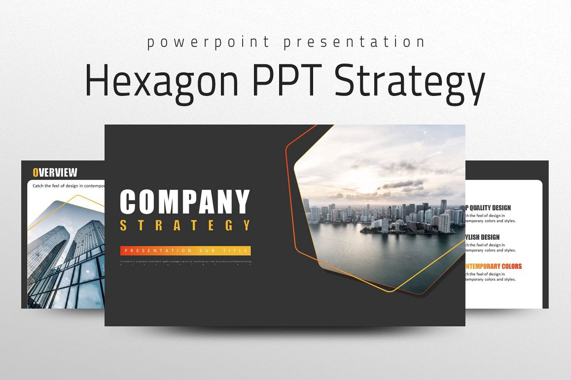 Hexagon PPT Strategy example image 1