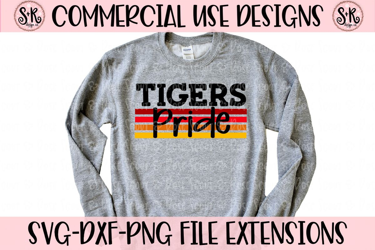 Tigers Pride SVG DXF PNG example image 1