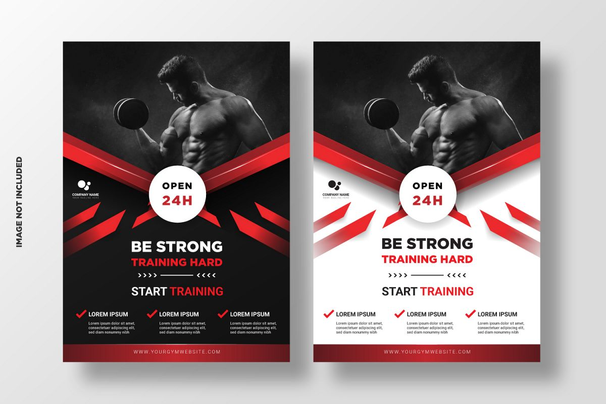 Fitness Flyer Template. Vol 5 example image 1