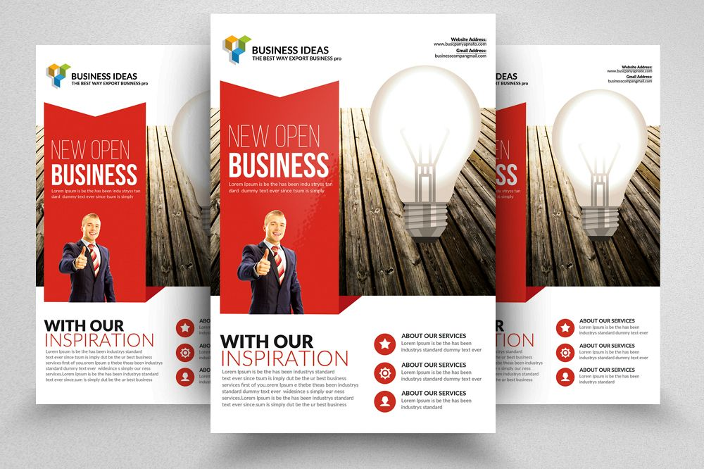 new idea business flyer templates