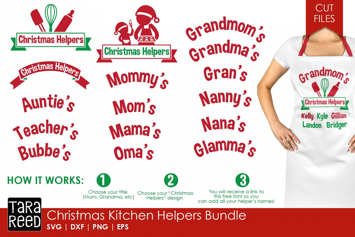 Christmas Kitchen Helpers - Christmas SVG files for Crafters