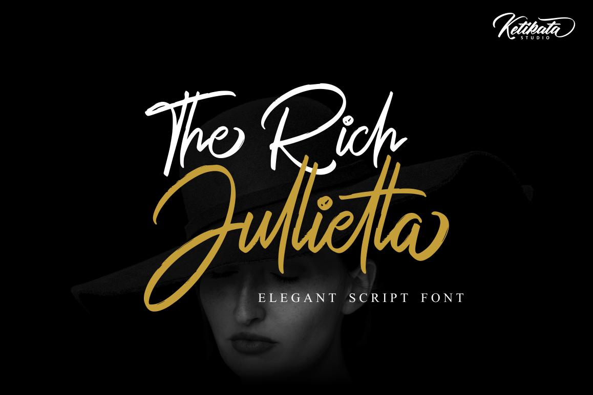 The Rich Jullietta Elegant Script Font example image 1