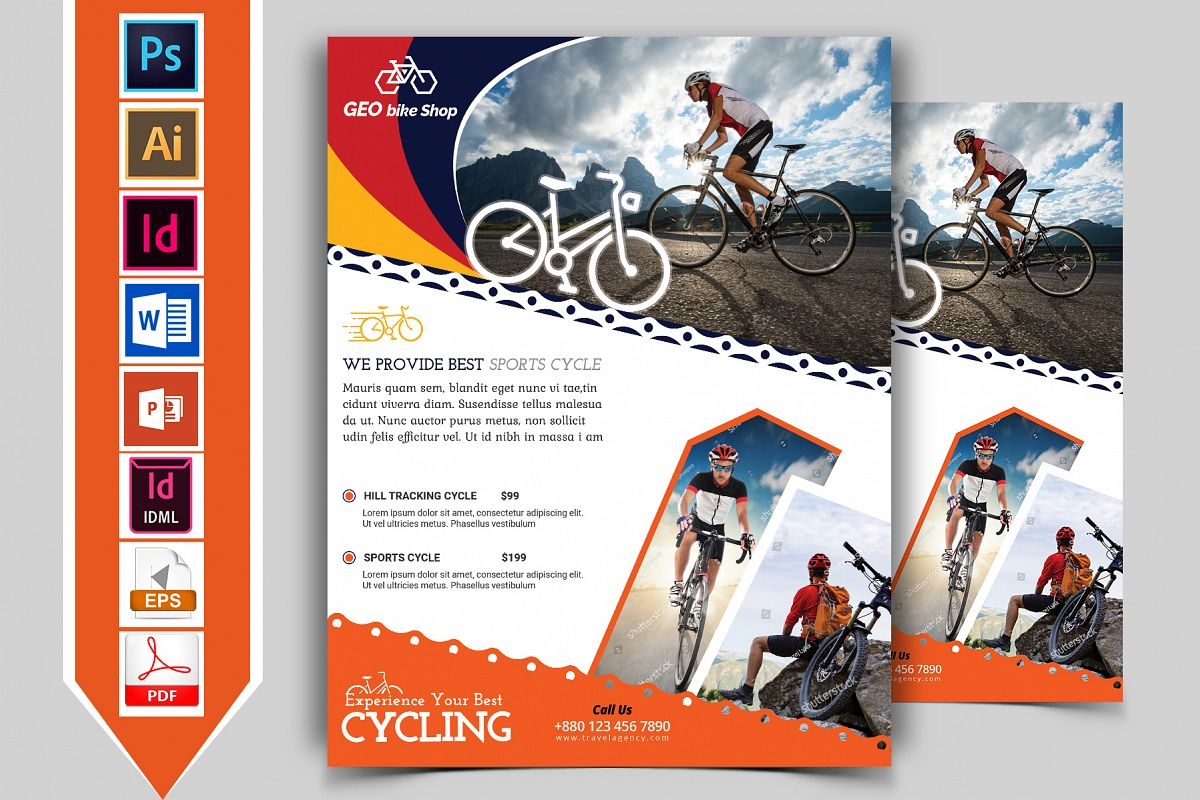 Cycle Shop Flyer Template Vol-02 example image 1