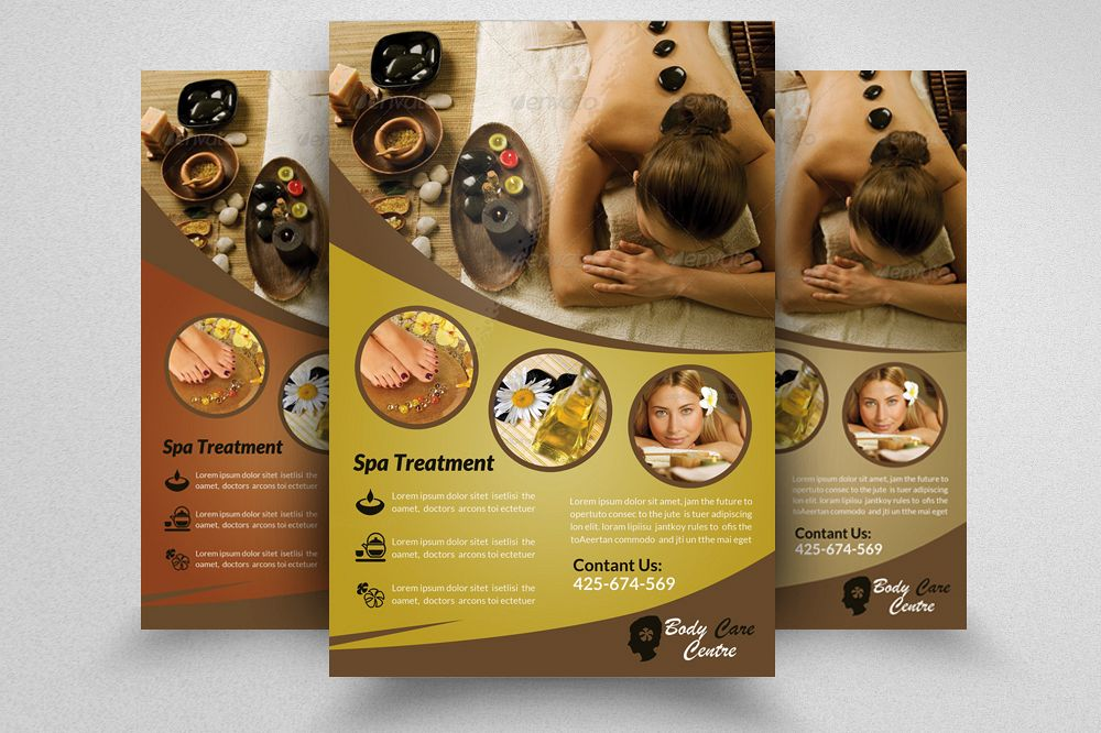 Spa & Skin Care Centre Flyer example image 1