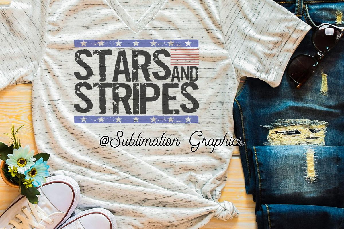 Stars & Stripes Sublimation PNG example image 1