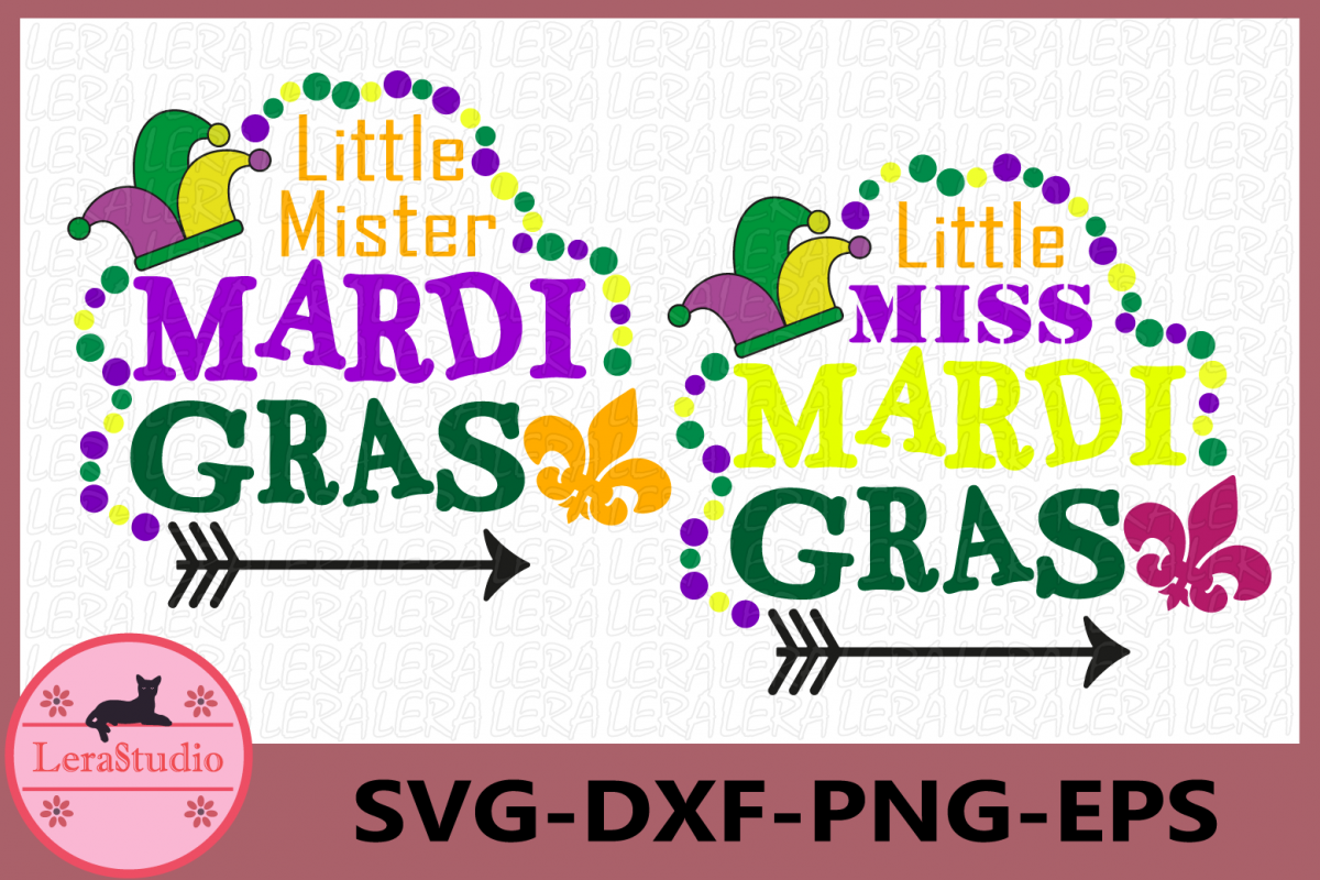 Mardi Gras Svg, Little Miss Mister Mardi Gras svg, Clip Art example image 1