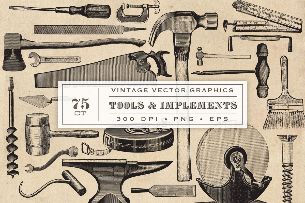 Vintage Tool & Implement Graphics example image 1