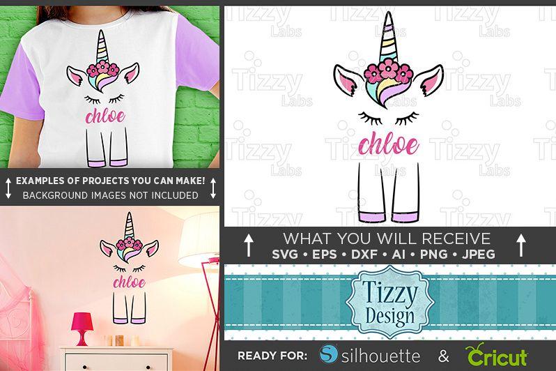 Cute UNICORN SVG - Cute Unicorn Shirt Design SVG File - 1002 example image 1