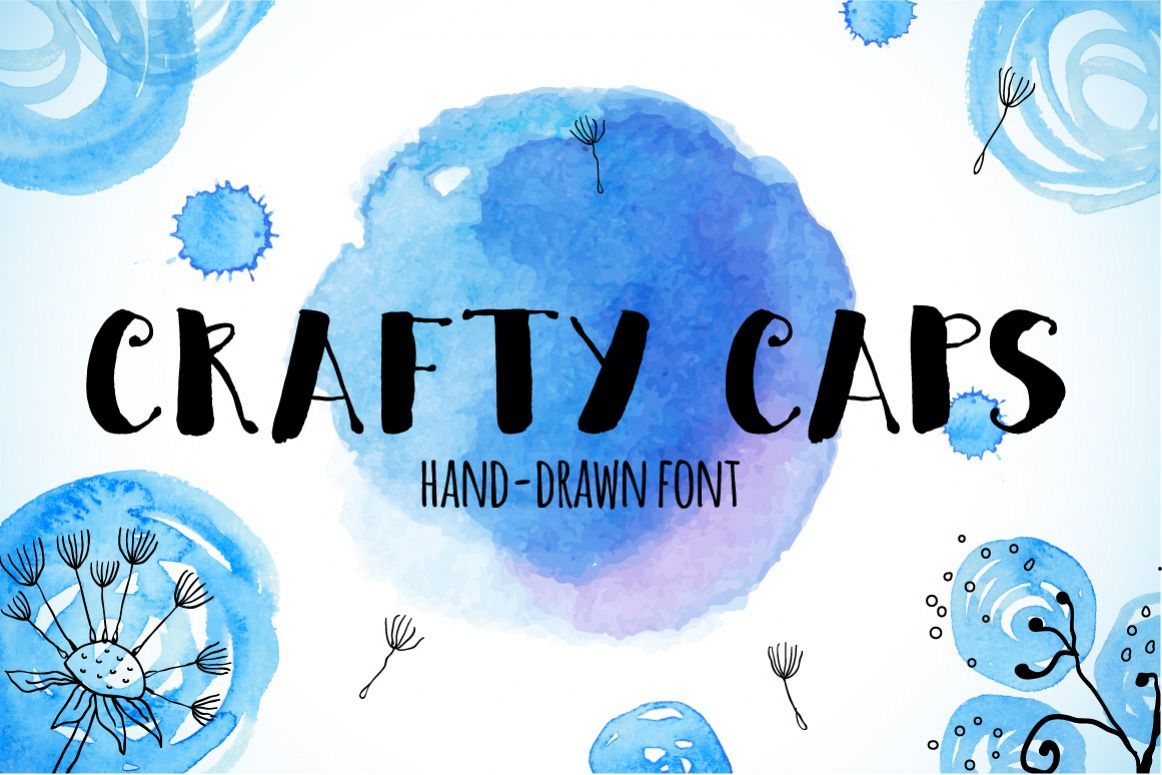 Crafty CAPS hand-drawn font example image 1