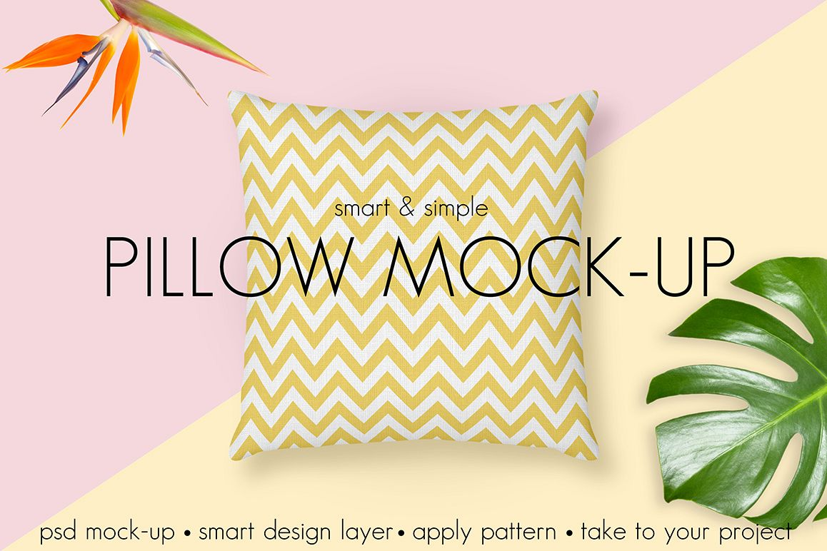 Pillow Mock-up. Smart & Simple example image 1