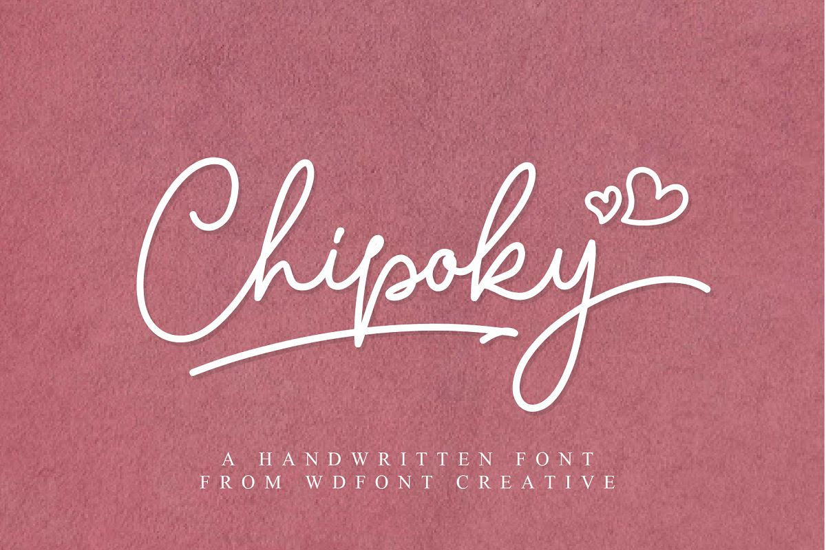 Chipoky | A Handwritten Font example image 1