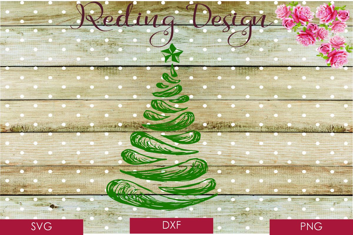 christmas tree abstract svg dxf png dig design bundles