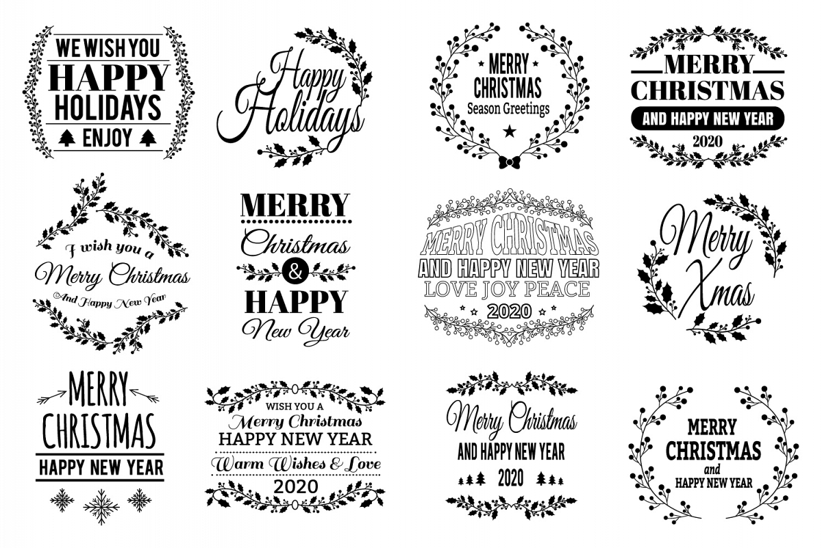 12 Christmas SVG Quotes Bundle example image 1
