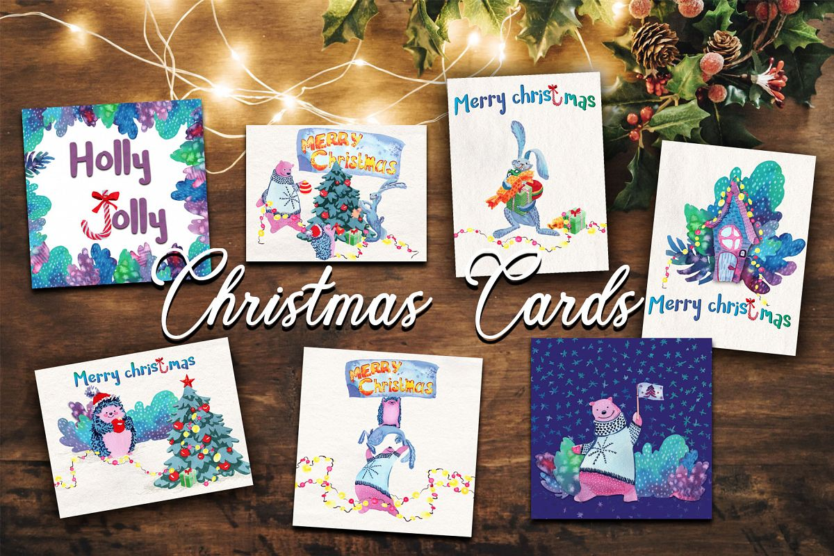 Christmas greeting cards example image 1