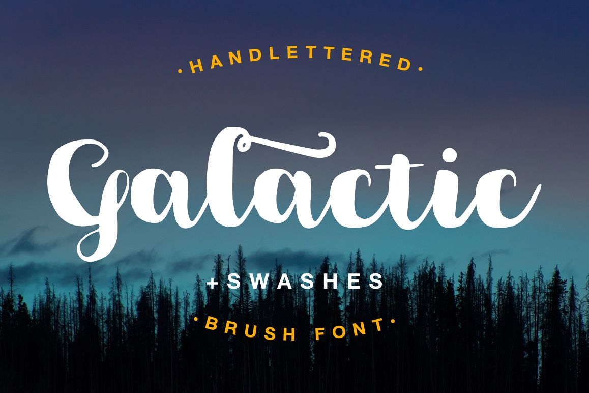 Galactic Brush Font example image 1