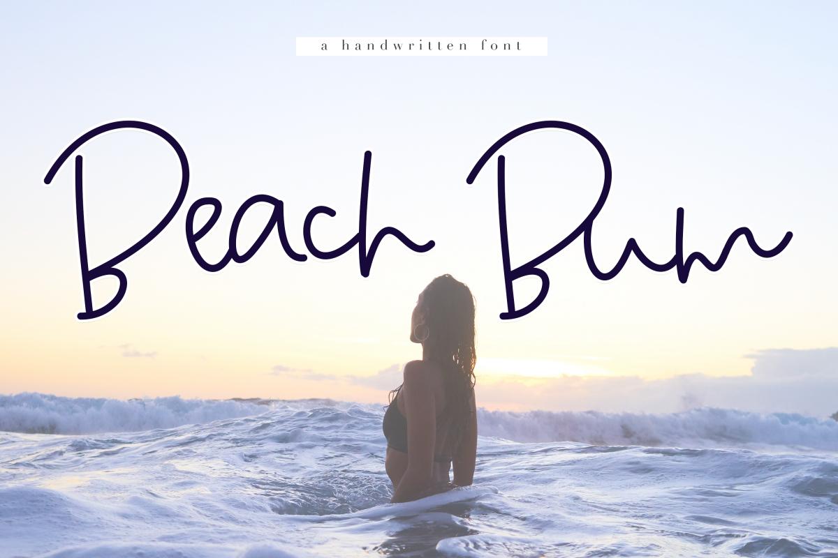 Beach Bum - Handwritten Script Font example image 1