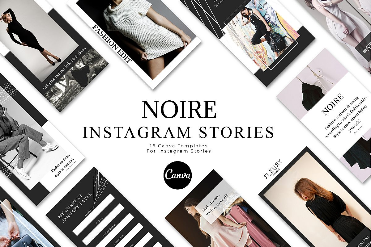 Instagram Story Canva Template - Noire example image 1