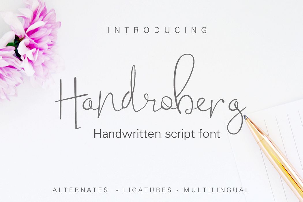 Handroberg Font example image 1
