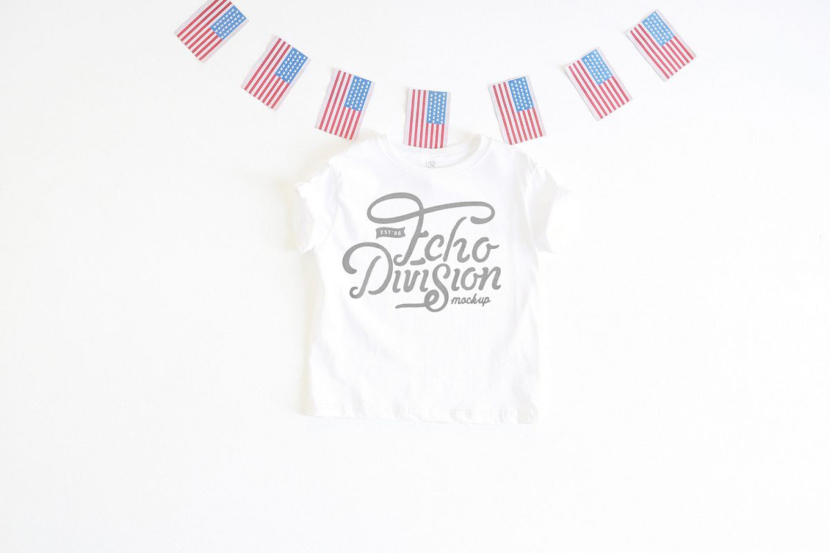 4th of July Mockup- Toddler Jersey Tee - 3321- white example image 1