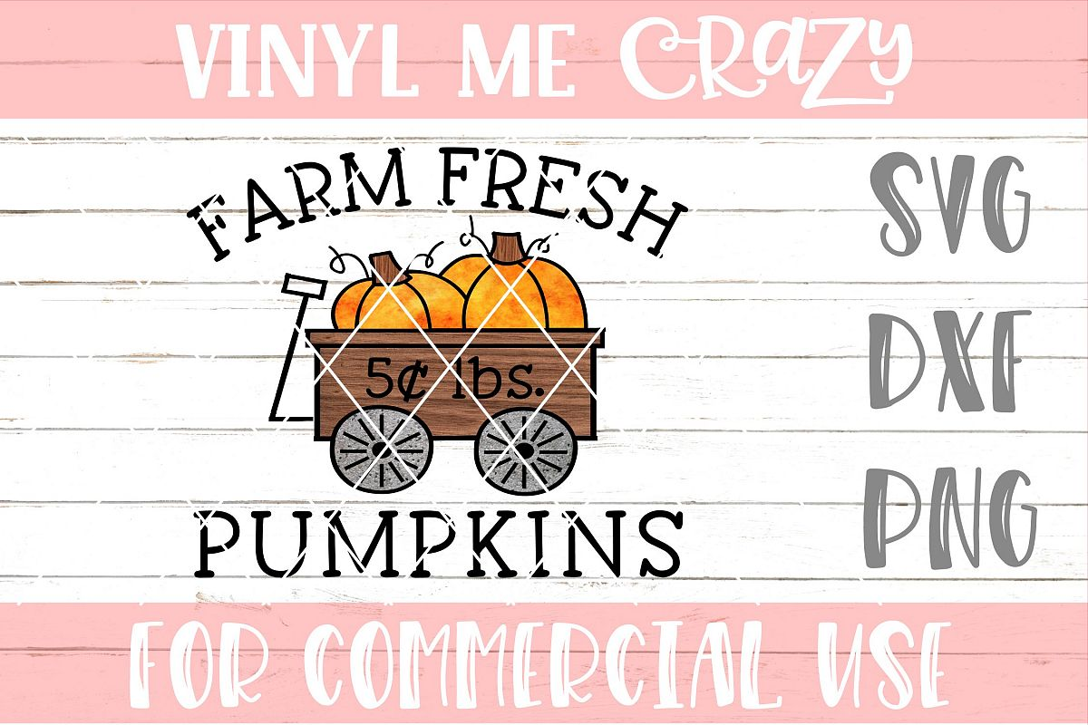 Farm Fresh Pumpkins SVG DXF PNG example image 1