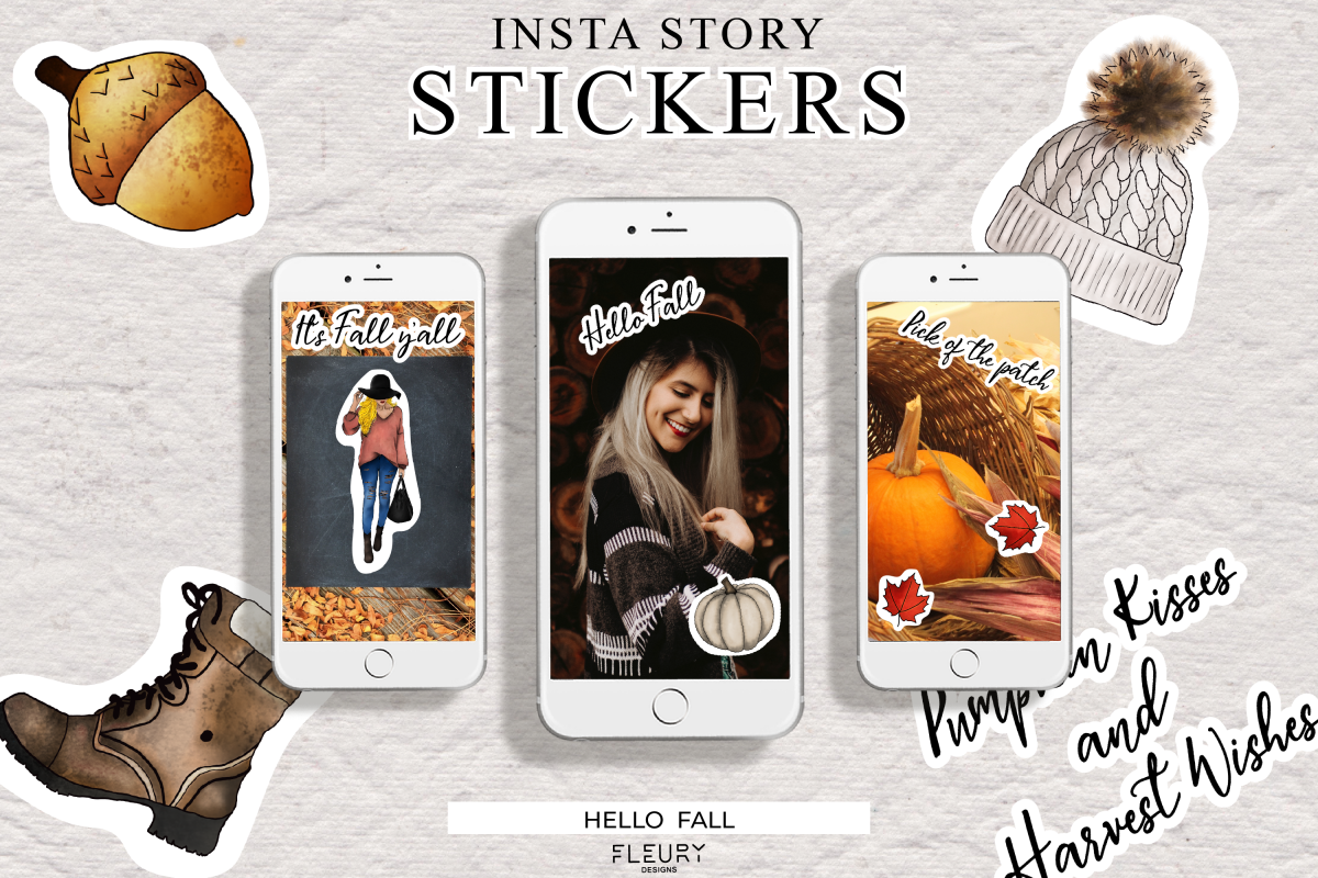 Instagram Story Stickers - Hello Fall Collection example image 1