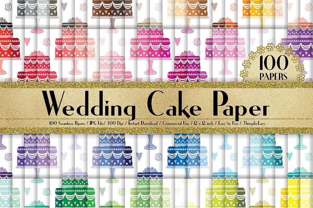 100 Seamless Wedding Cake Digital Papers 12 x 12 inch