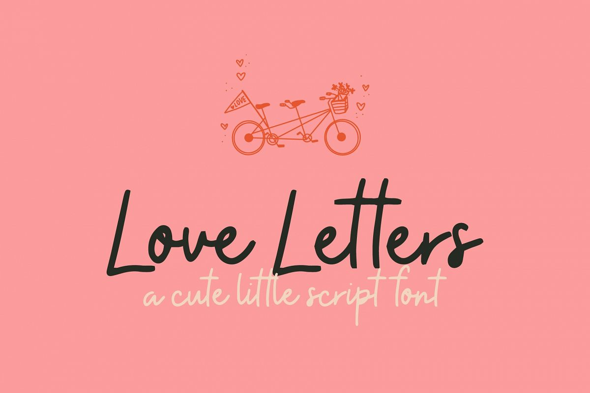 Lover Letters | Cute Script Font example image 1