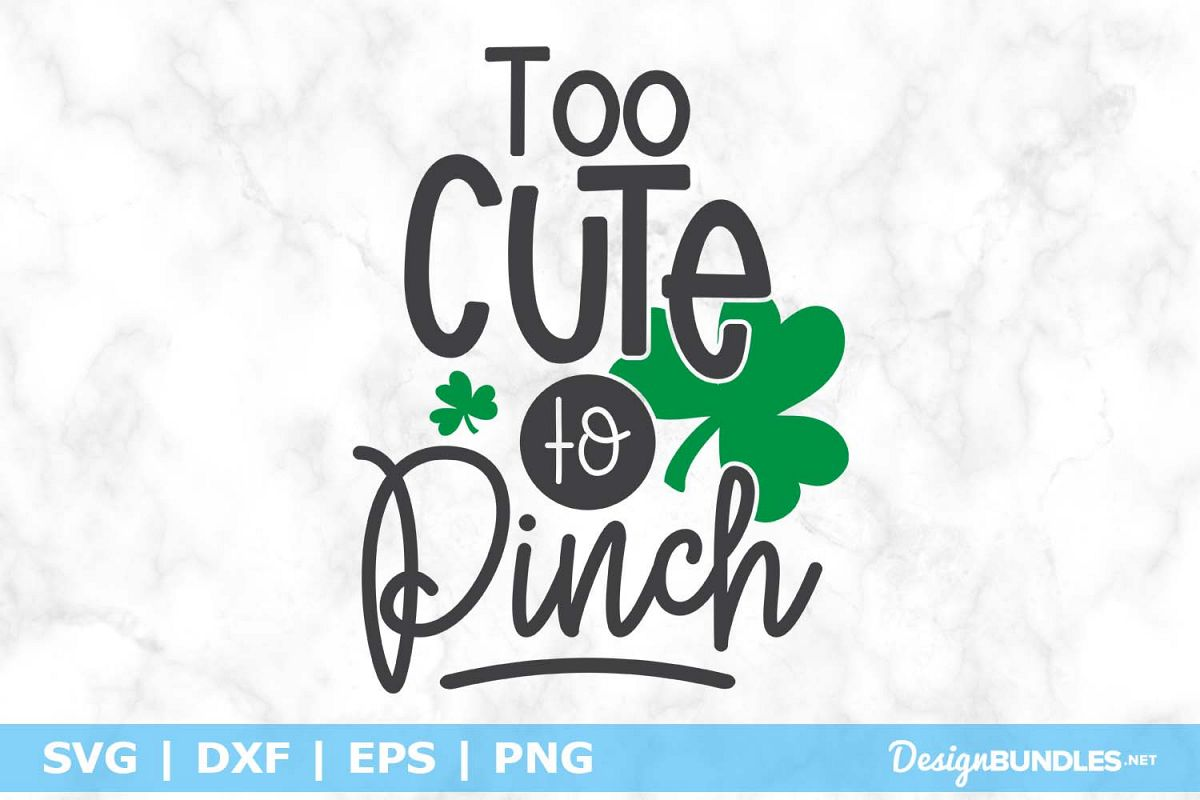 Too cute to Pinch SVG File example image 1