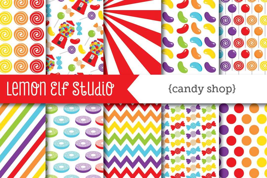 Candy Shop-Digital Paper (LES.CL05A) example image 1
