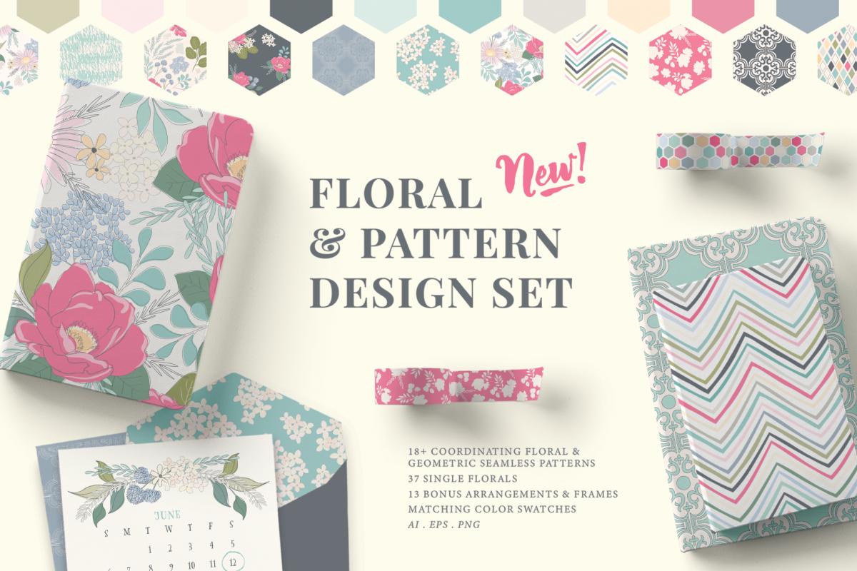 Floral Pattern Design Set example image 1