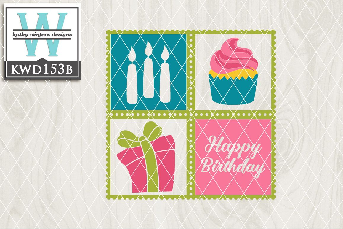 Birthday Cutting File KWD153B example image 1