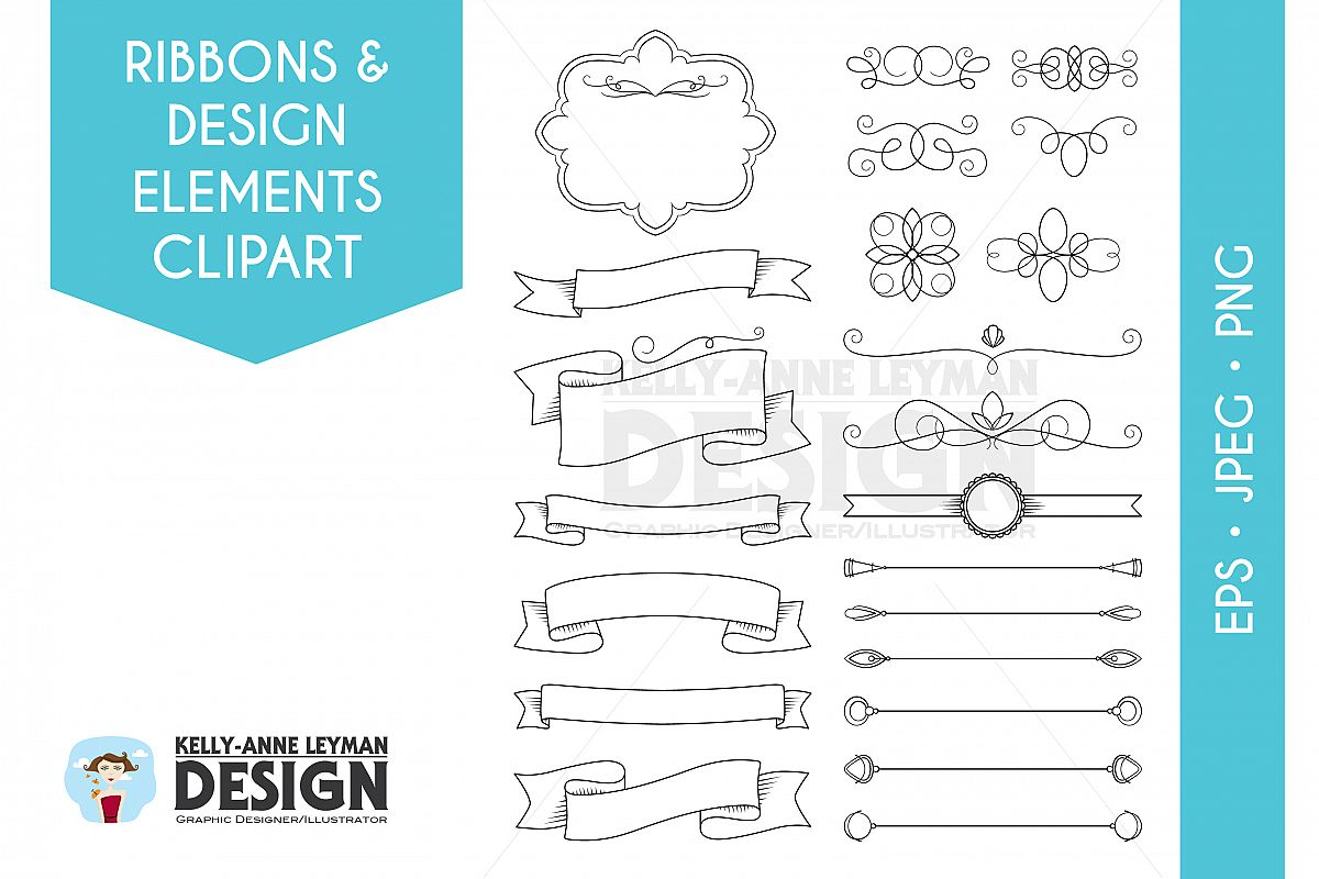 DIY Invitation clipart, Digital Frames, Text Dividers example image 1